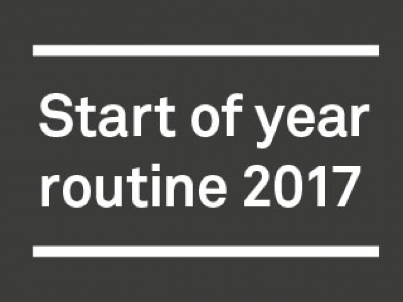 Start of year routine web